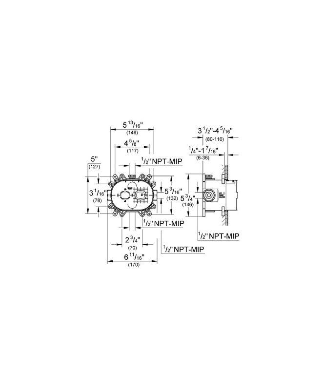 Grohe GSS-Europlus-TPB-06-000 Starlight Chrome Europlus Pressure ...