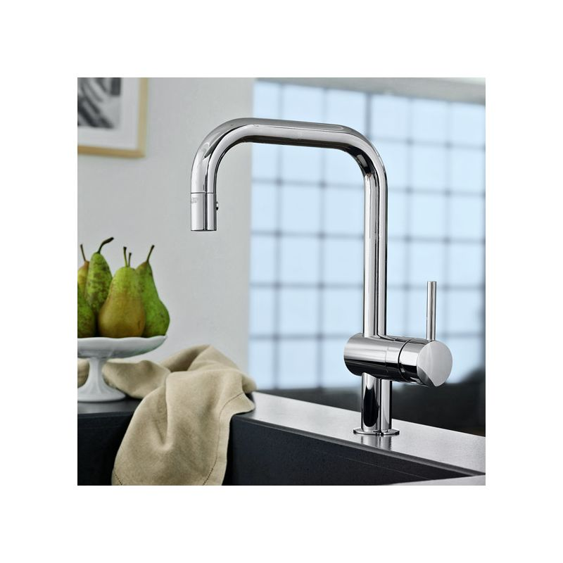 Grohe 32319000 Starlight Chrome Minta Pull Down Kitchen Faucet With