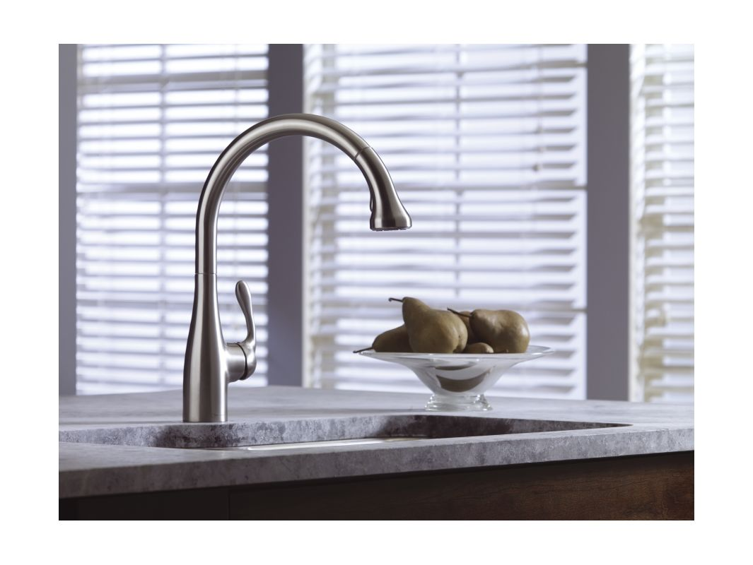 Hansgrohe 06460860 Steel Optik Allegro E Pull-Down Kitchen Faucet ...