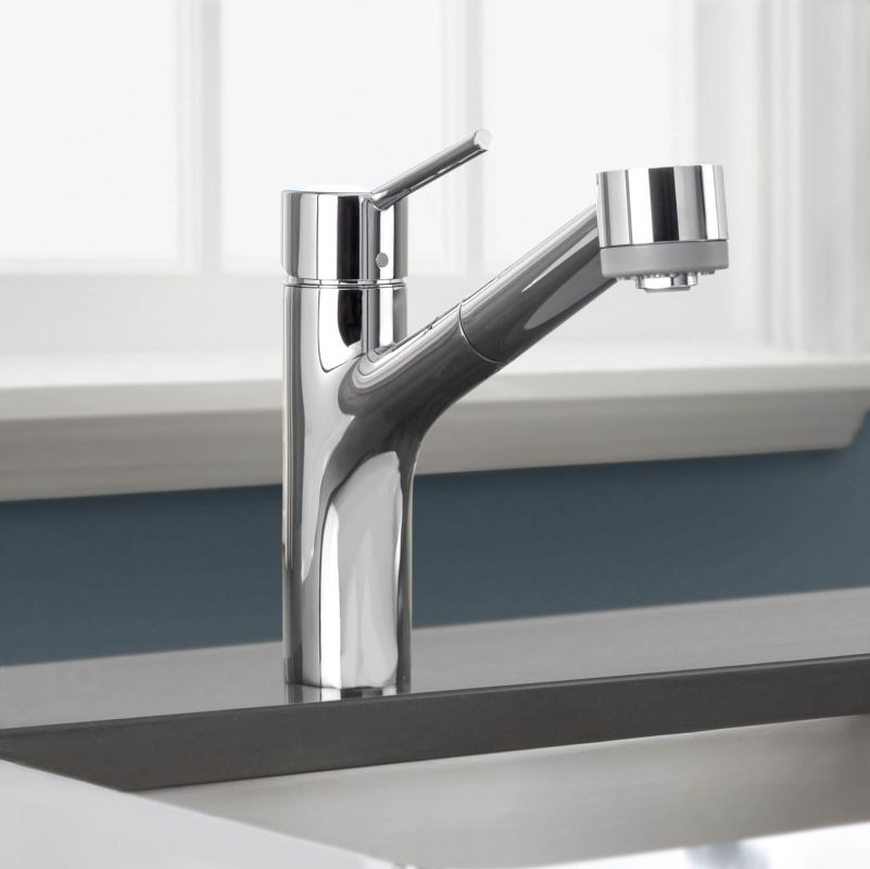 Hansgrohe 06462000 Chrome Talis S Pull-Out Kitchen Faucet with ...