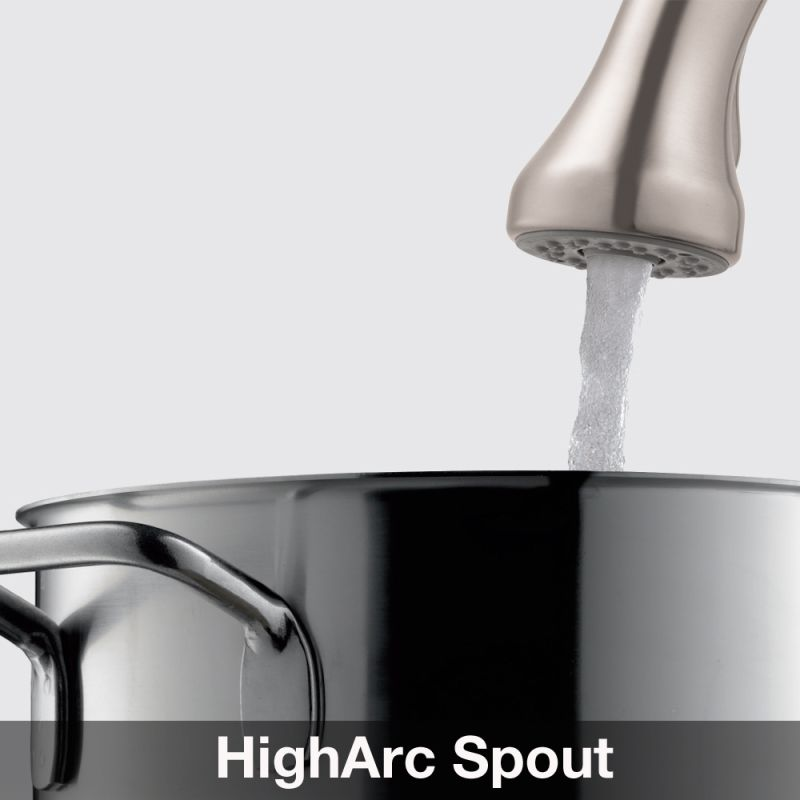 Hansgrohe 06461860 Steel Optik Allegro E Pull Out Kitchen Faucet