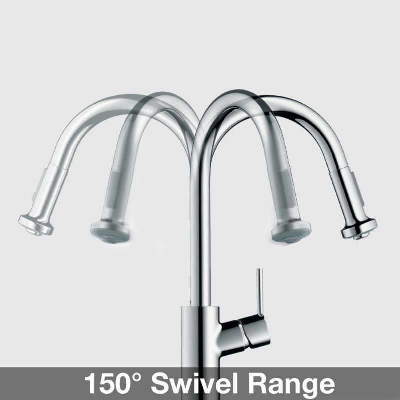 Hansgrohe 14872001 Chrome Talis S Pull-Down Single Function Kitchen ...