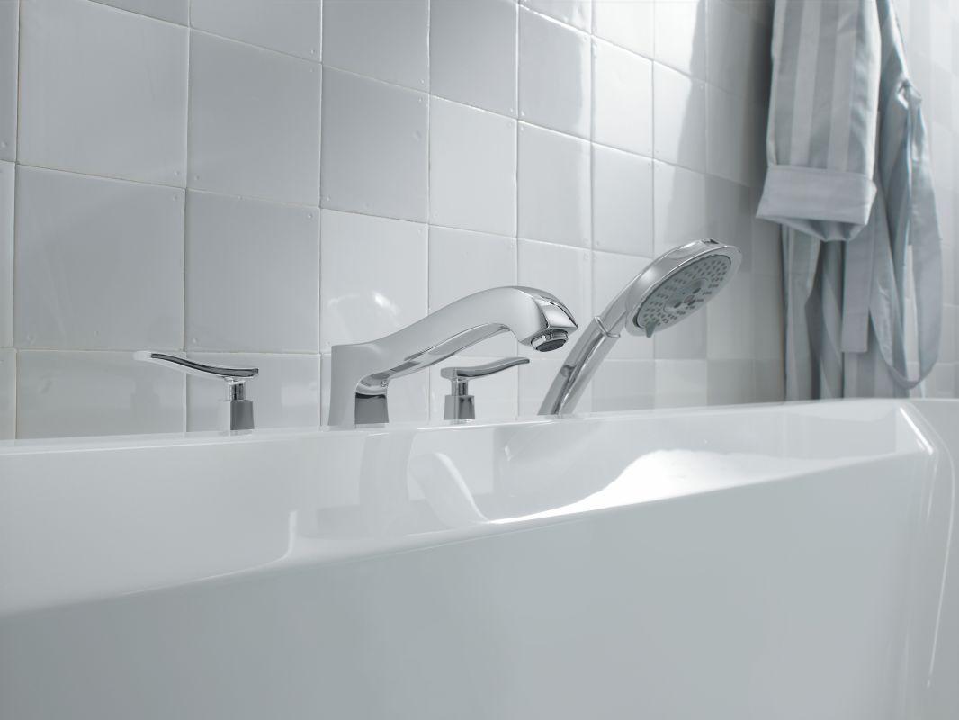 Hansgrohe 31314001 Chrome Metris C Roman Tub Filler Faucet with ...