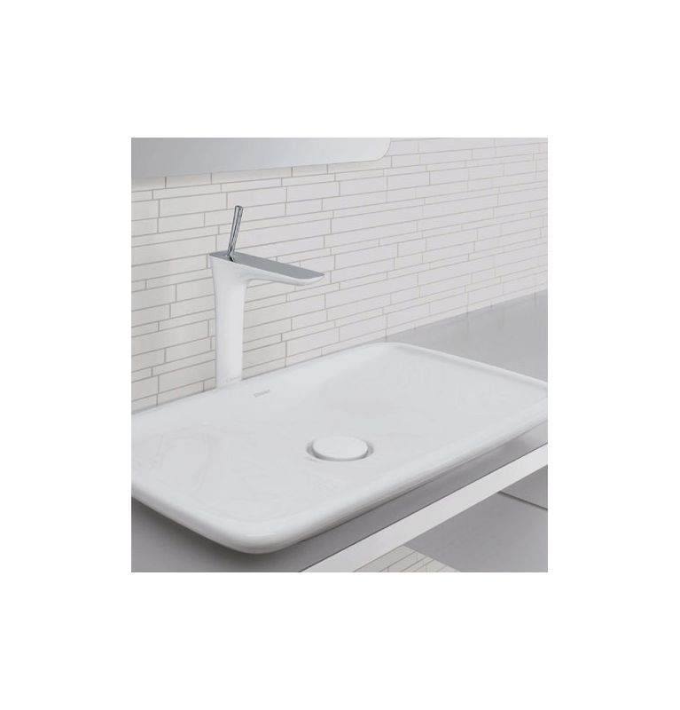 Hansgrohe 15072401 White / Chrome PuraVida 1.2 GPM Single Hole ...