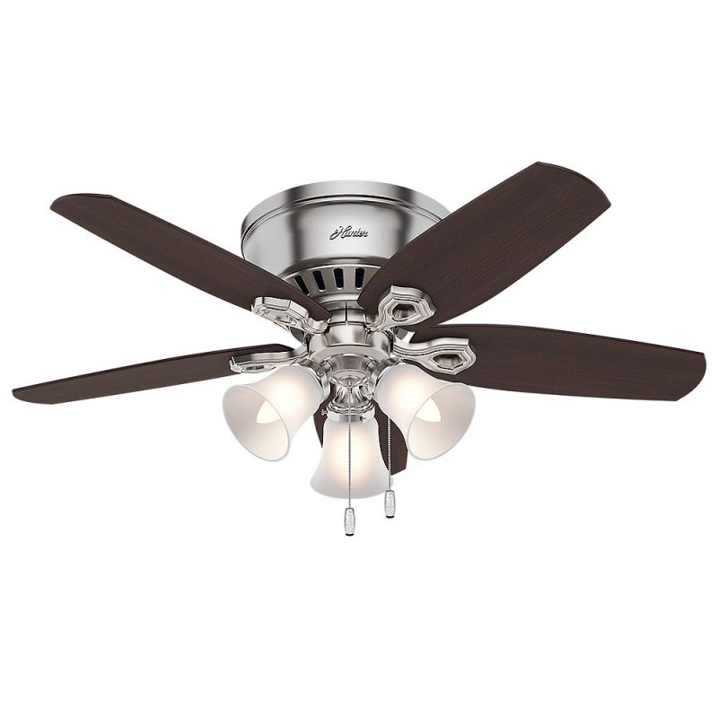 Hunter 51090 Snow White 42 Indoor Ceiling Fan 5 Reversible Blades And Light Kit Included Lightingdirect Com