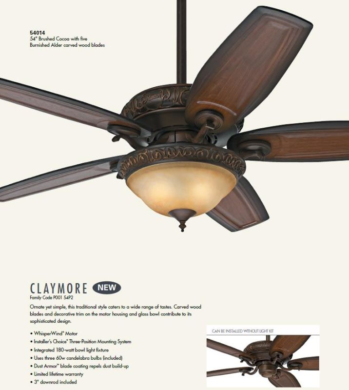 Hunter 54014 brushed cocoa 54 indoor ceiling fan 5 blades and hunter 54014 brushed cocoa 54 indoor ceiling fan 5 blades and light kit included lightingdirect aloadofball Image collections