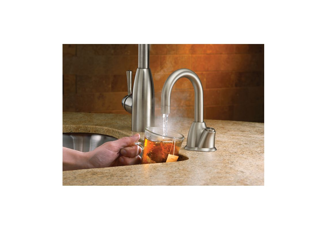 InSinkErator HHOT100CSS Chrome Invite Instant Hot Water Dispenser With  1 Year In Home Warranty   Tank Included   Faucet.com