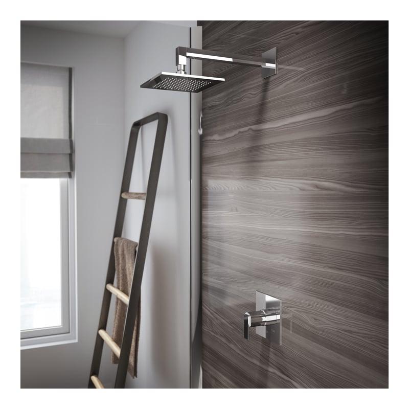 Jacuzzi MX83826 Brushed Nickel Mincio™ Shower Trim Package with Rain ...