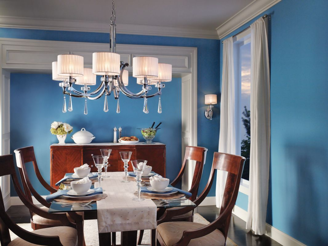 Kichler 42632CH Chrome Parker Point Single Tier Chandelier With 8 Lights    Stem Included   36 Inches Wide   LightingDirect.com