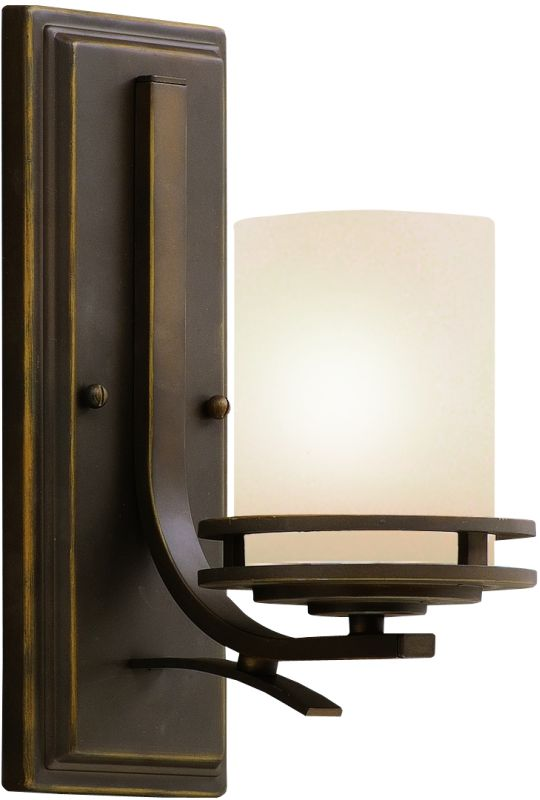 Kichler NI Brushed Nickel Hendrik Single Light Tall Wall - Bathroom sconce with switch