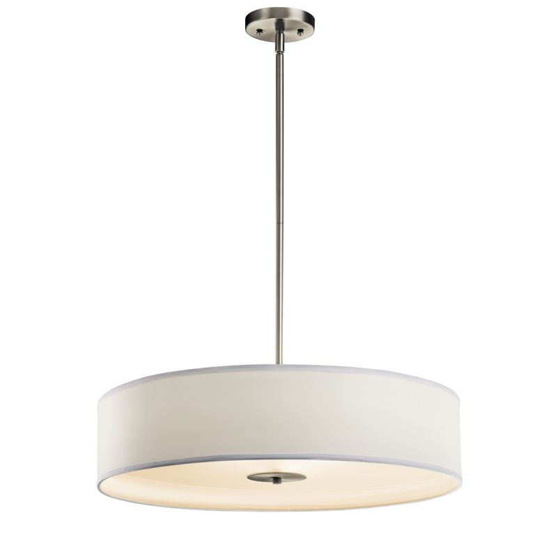 "Cool Kichler OZ Olde Bronze 3 Light 24"" Wide Convertible Pendant Semi Flush Ceiling Fixture with Drum Fabric Shade LightingShowplace Contemporary - Cool drum pendant lighting For Your Plan"