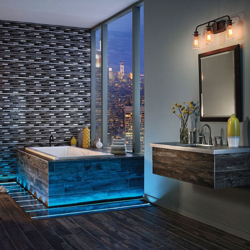 Kichler 45459ch chrome braelyn 3 light 24 wide bathroom vanity kichler 45459ch chrome braelyn 3 light 24 wide bathroom vanity light with seedy glass shades lightingdirect aloadofball Choice Image