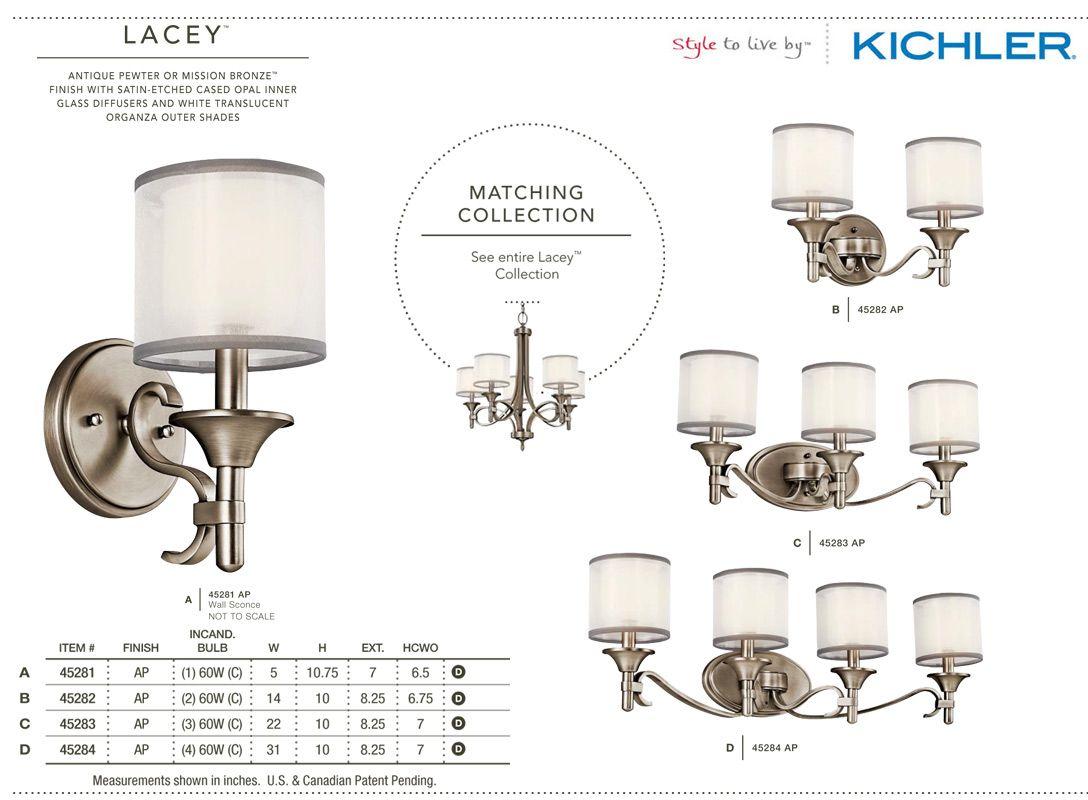 Kichler 45282ap antique pewter lacey 14 wide 2 bulb bathroom kichler 45282ap antique pewter lacey 14 wide 2 bulb bathroom lighting fixture lightingdirect arubaitofo Choice Image