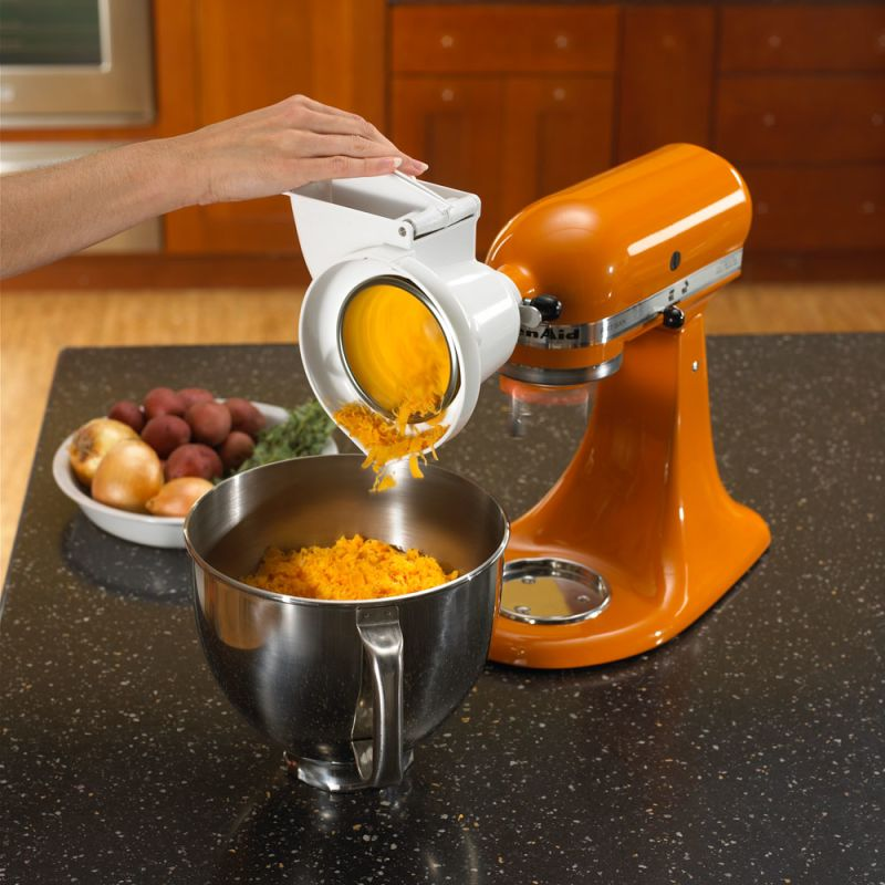 KitchenAid Roto Slicer/Shredder Stand Mixer Attachment - RVSA on cutco slicer, bosch slicer, chefmate slicer, kitchen shredder slicer, chicago cutlery slicer, benriner slicer, cuisinart mandolin slicer, hobart slicer, paderno slicer, progressive slicer, as seen on tv slicer, waring slicer, electric slicer, garlic slicer, one touch slicer, kitchen wizard slicer, chef's slicer, banana slicer, ninja kitchen slicer, oxo slicer,