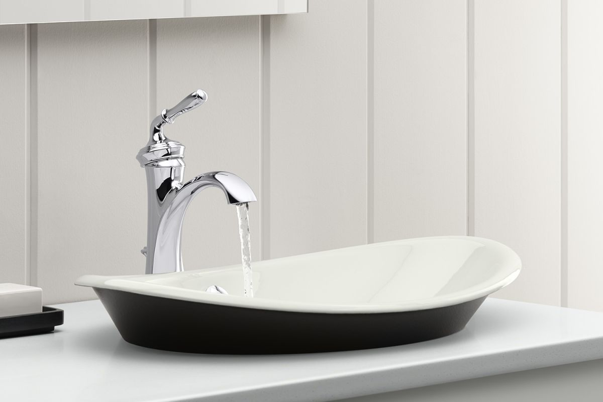 Kohler KCP Polished Chrome Devonshire Single Hole Bathroom - Kohler devonshire bathroom fixtures