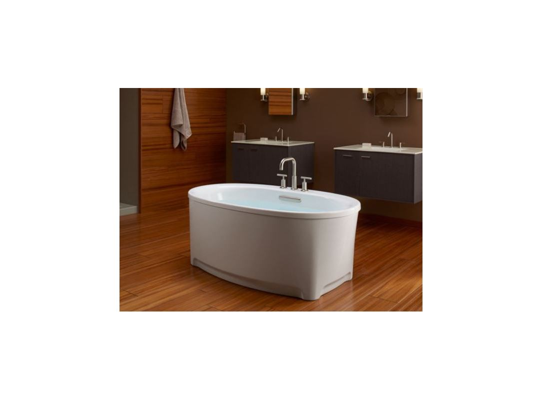Kohler K-5701-0 White Underscore 5\' Free Standing Soaking Tub with ...