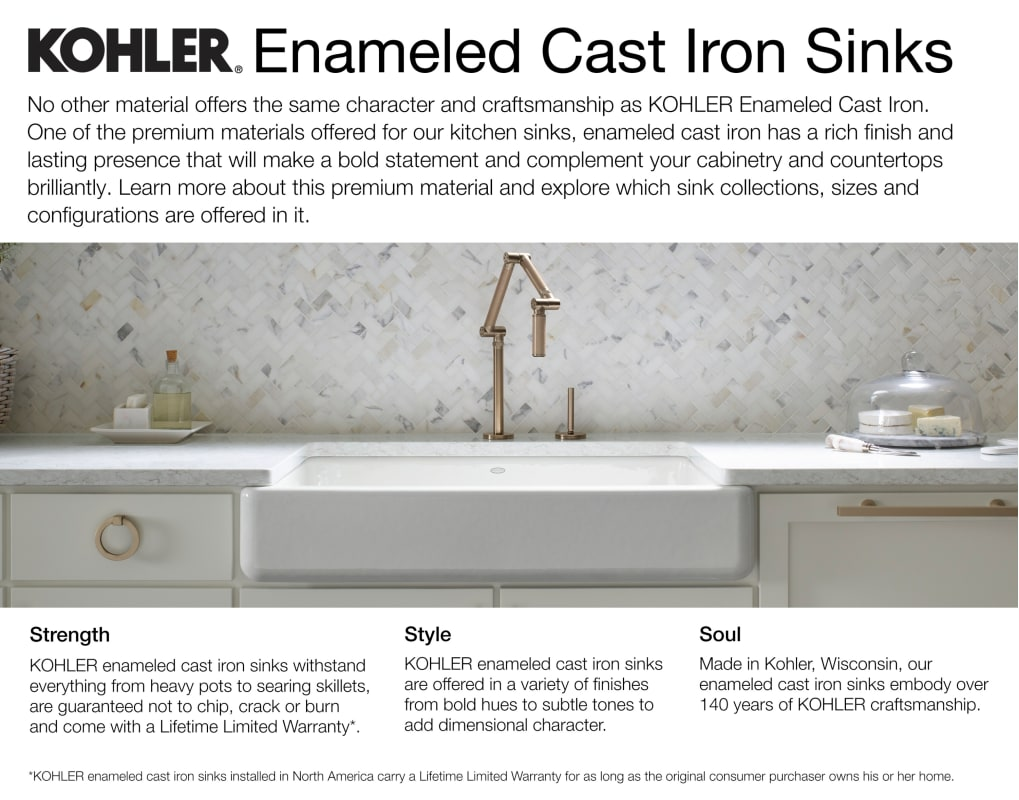Kohler K 5931 4u Ny Dune Executive Chef 33 Double Basin Under Mount Enameled Cast Iron Kitchen Sink Faucet