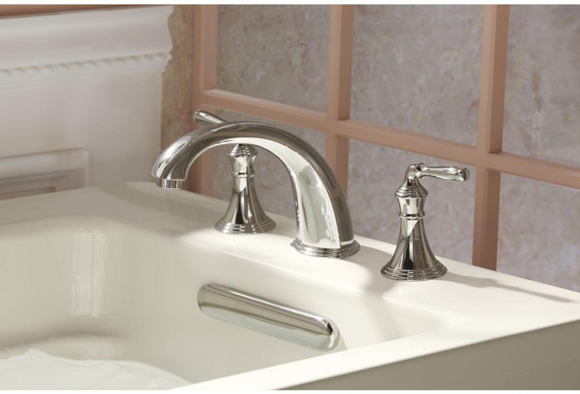 Kohler KTBX Brazen Bronze Devonshire Deck Mounted Roman Tub - Kohler devonshire bathroom sink faucet