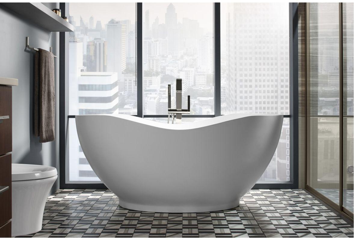 Superbe Kohler K T97330 4 CP Polished Chrome Loure® Floor Mounted Bath Filler With  Hand Shower   Faucet.com