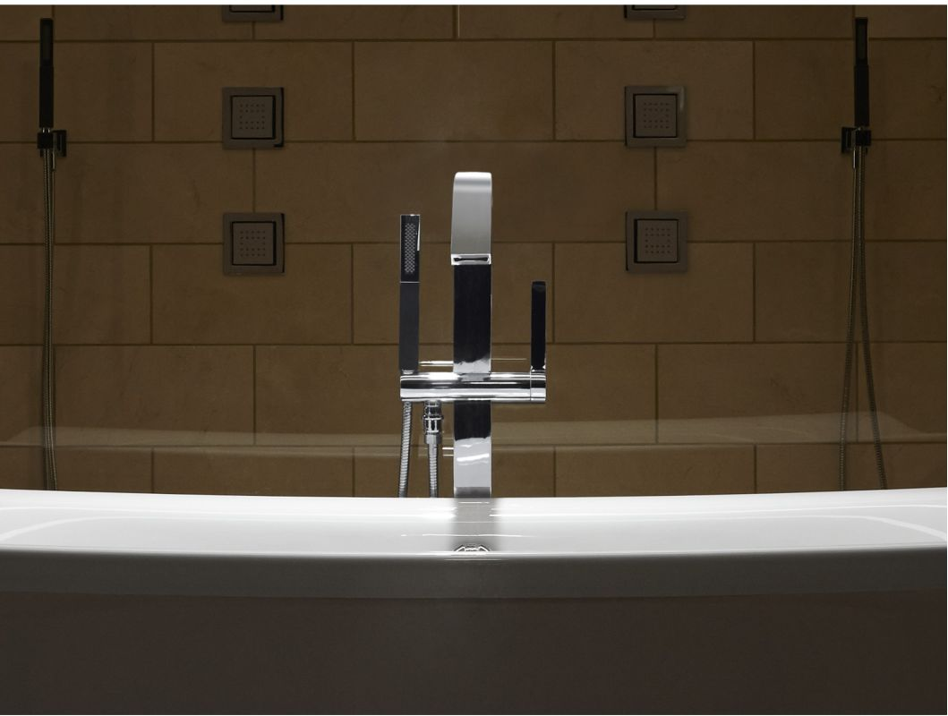 Kohler K-T97330-4-BN Vibrant Brushed Nickel Loure® Floor Mounted ...