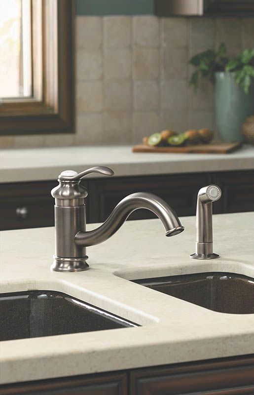 Nice Kohler K 12176 BN Brushed Nickel Fairfax 1.5 GPM Kitchen Faucet With Side  Spray   Faucet.com
