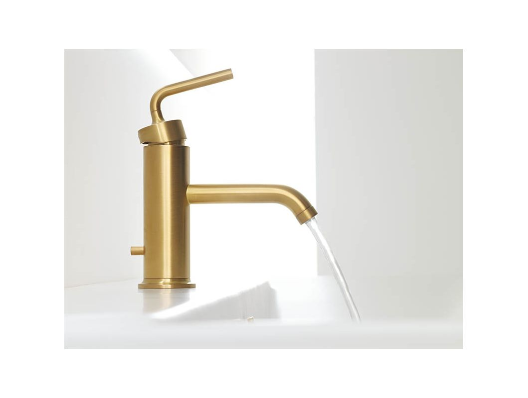 Kohler KACP Polished Chrome Purist Single Hole Bathroom - Kohler antique brass bathroom faucets