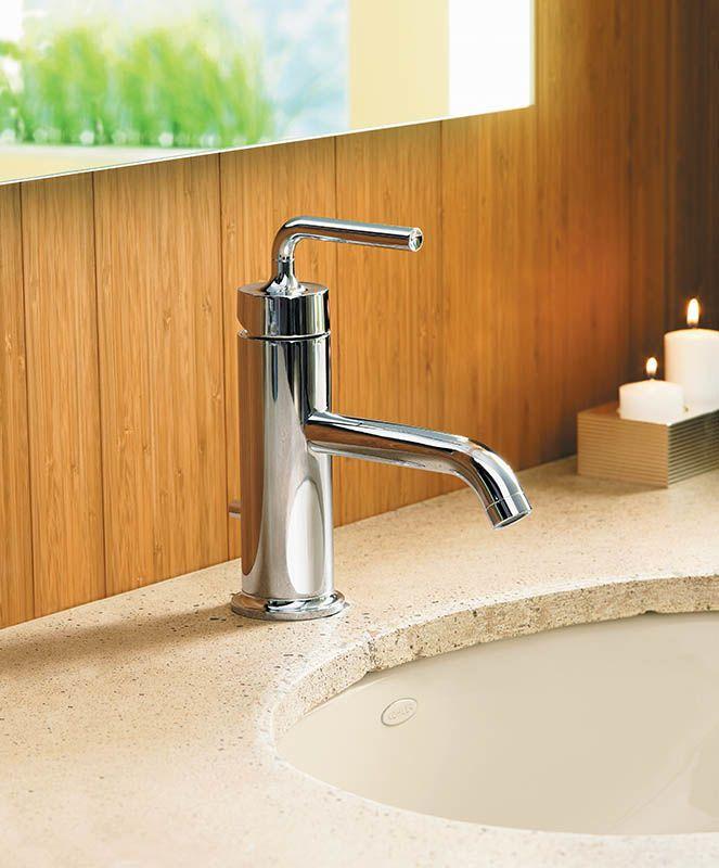 kohler brushed widespread single htm vibrant purist gold bathroom wall photo sink faucet sconce moderne faucets
