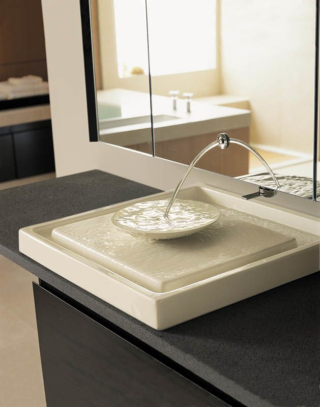 Kohler K 2313 47 Almond Purist 24 Inch Fireclay Wading Pool Bathroom Sink    FaucetDirect.com