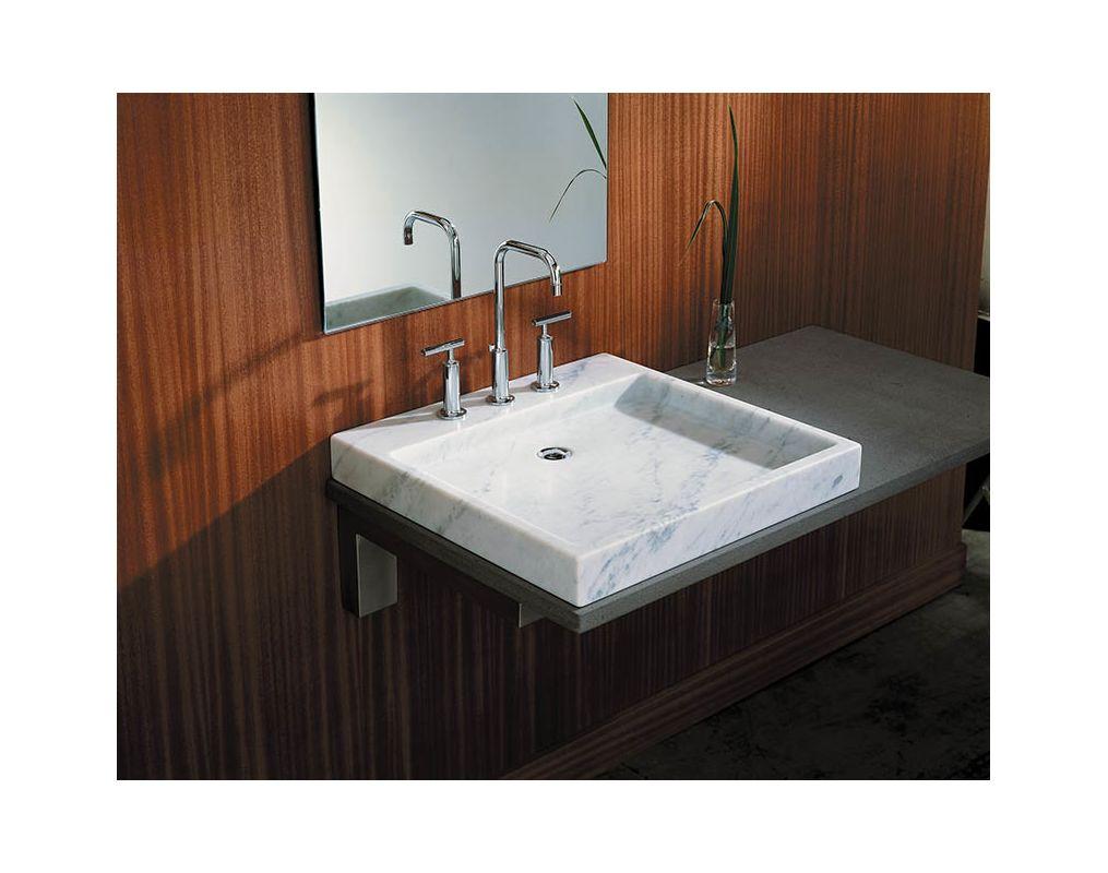 Kohler KWH White Carrera Purist Marble Vessel Sink - Kohler purist bathroom sink