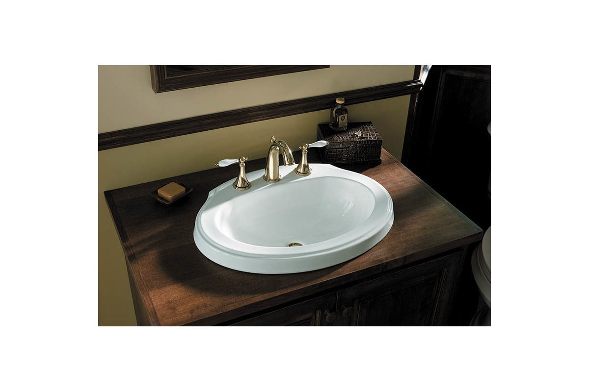 Kohler K-310-4P-BV Brushed Bronze Double Handle Widespread Bathroom ...