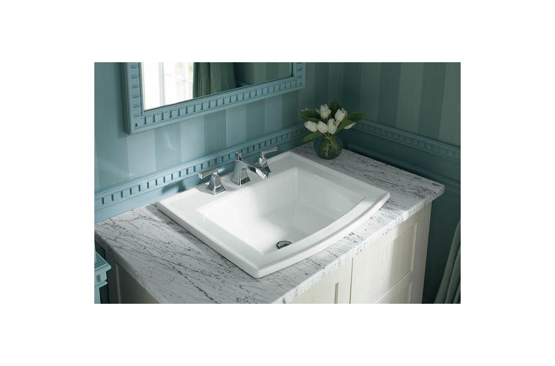 Kohler K-454-4V-BN Brushed Nickel Memoirs Widespread Bathroom Faucet ...