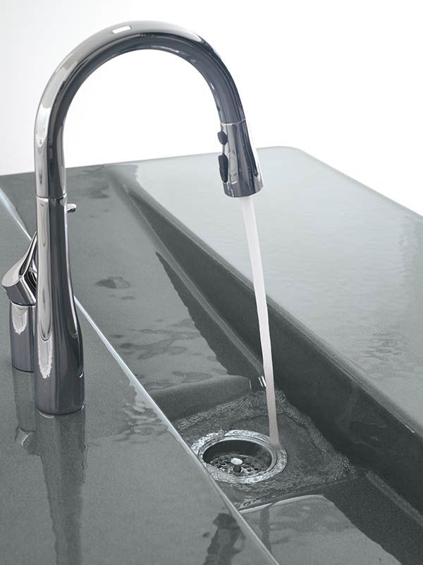 down stainless faucet pull faucets ac k dp simplice vibrant kohler secondary vs