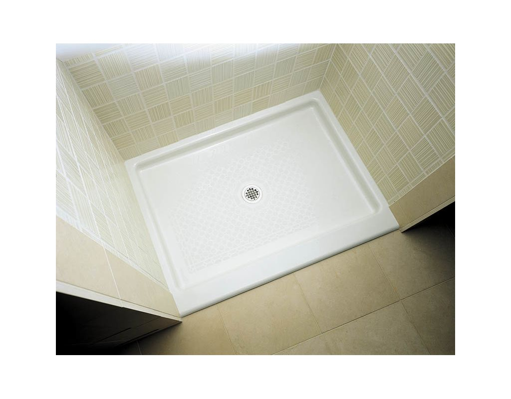 Kohler K 9025 96 Biscuit Kathryn 48 X 36 Single Threshold Shower Base With Center Drain Faucetdirect