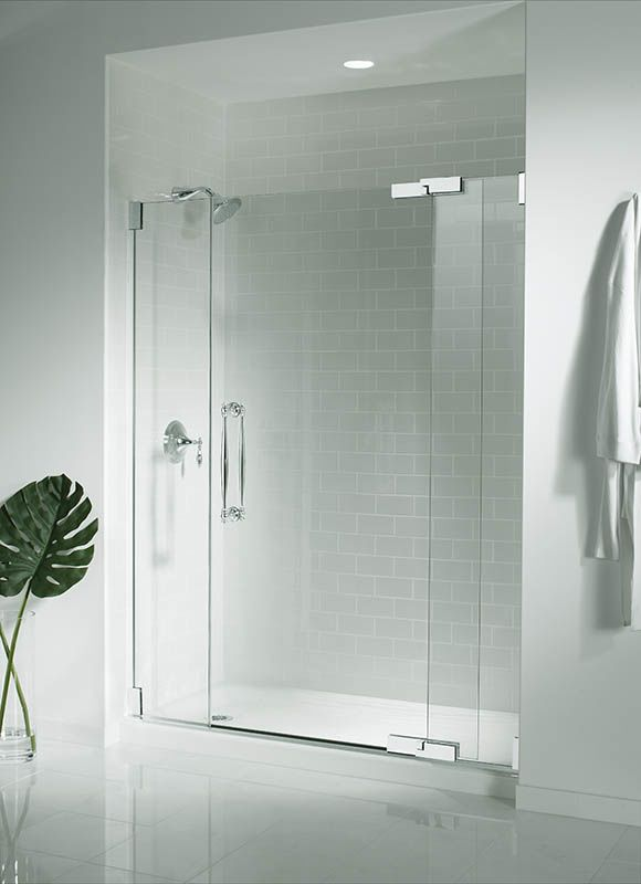 Kohler K 9054 58 Thunder Grey Salient 60 X 30 Single Threshold Shower Base With Right Drain Faucet