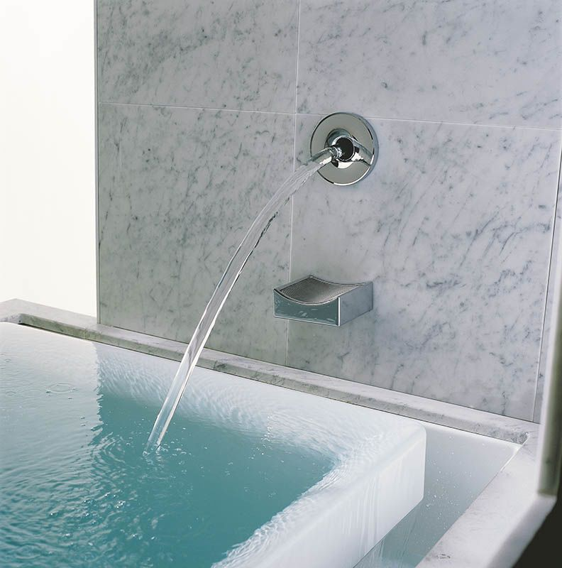 Kohler K 923 Cp Polished Chrome Modern Wall Or Ceiling Mount Bath Filler With 95 Inch 2 4 Cm From Laminar Collection Faucet