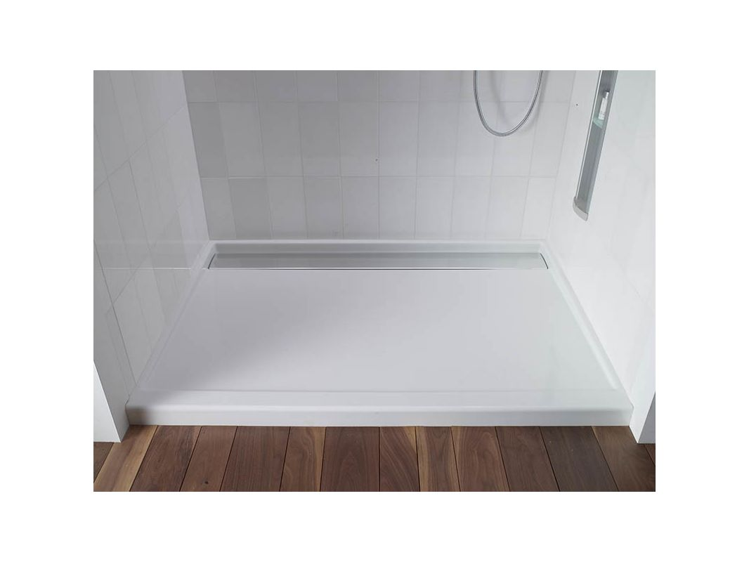 wall in tresham shower left pinterest double source base thresh com pan threshold lesscare single x drain corner center with of kohler