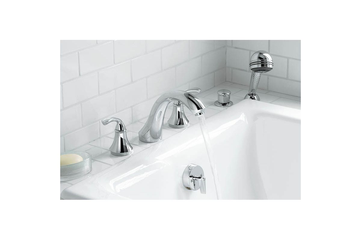 kohler roman tub faucet with hand shower. Kohler K T10278 4 G Brushed Chrome Double Handle Roman Tub Trim with  Sculpted Lever Handles from the Forte Collection Faucet com