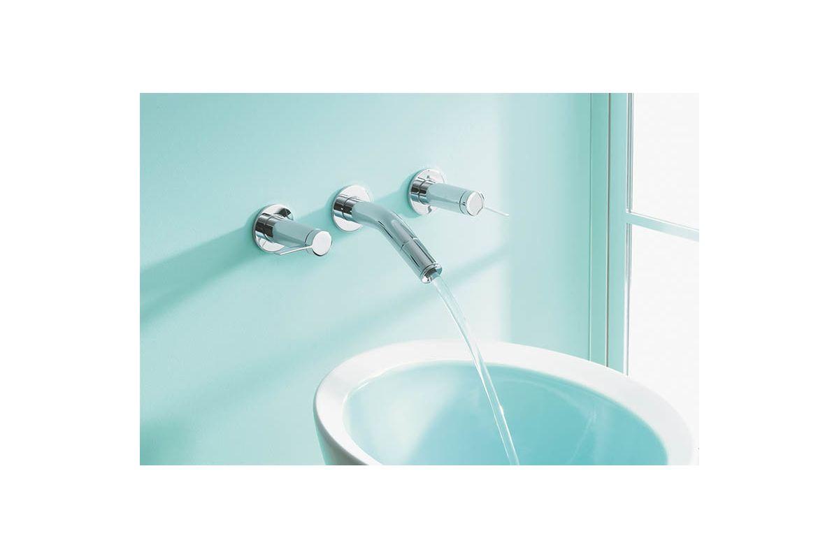 Kohler K-T945-4-SN Polished Nickel Stillness Wall Mount Bathroom ...