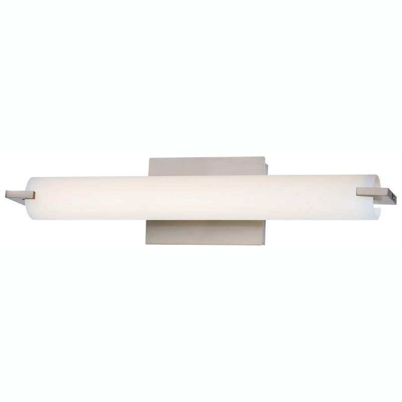 Bathroom Sconces Menards kovacs p5044-084-l brushed nickel 1 light led wall sconce in