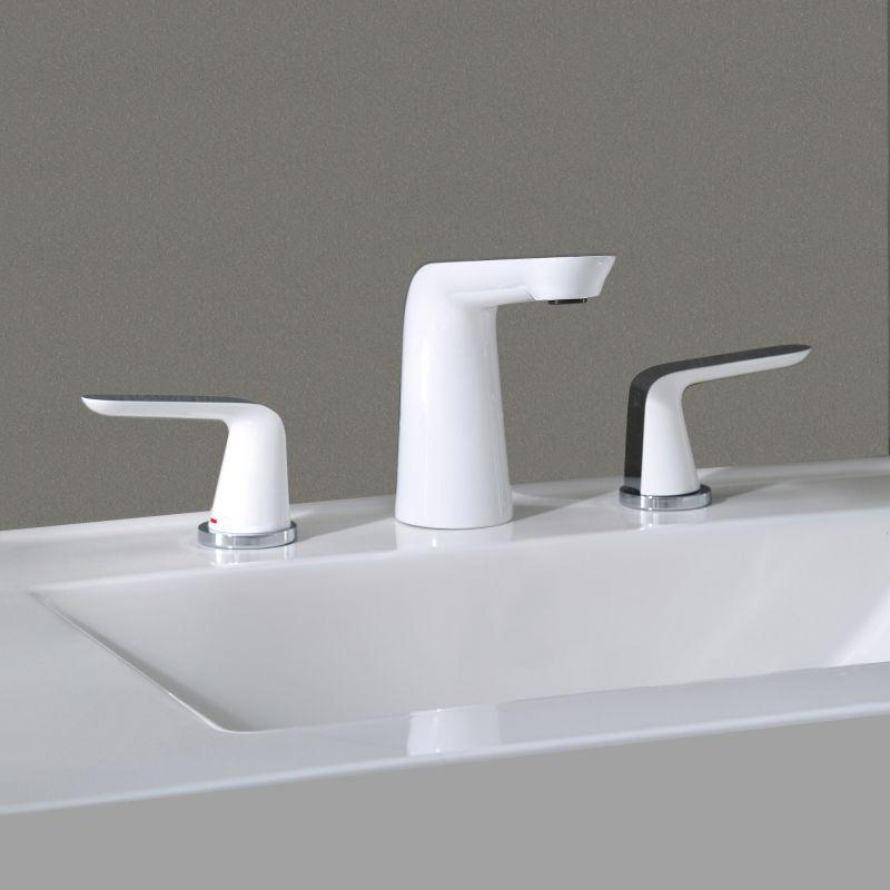Kraus FUS-1823BN-WH Brushed Nickel-White Seda™ Widespread Bathroom ...