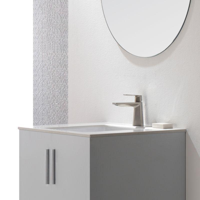 Kraus KEF-15301CH Chrome Single Hole Bathroom Faucet with Metal ...