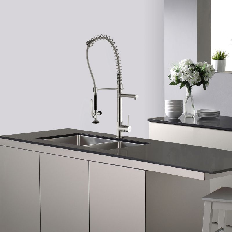 Kraus KPF-1602SS Stainless Steel Commercial Style Pre-Rinse Kitchen ...
