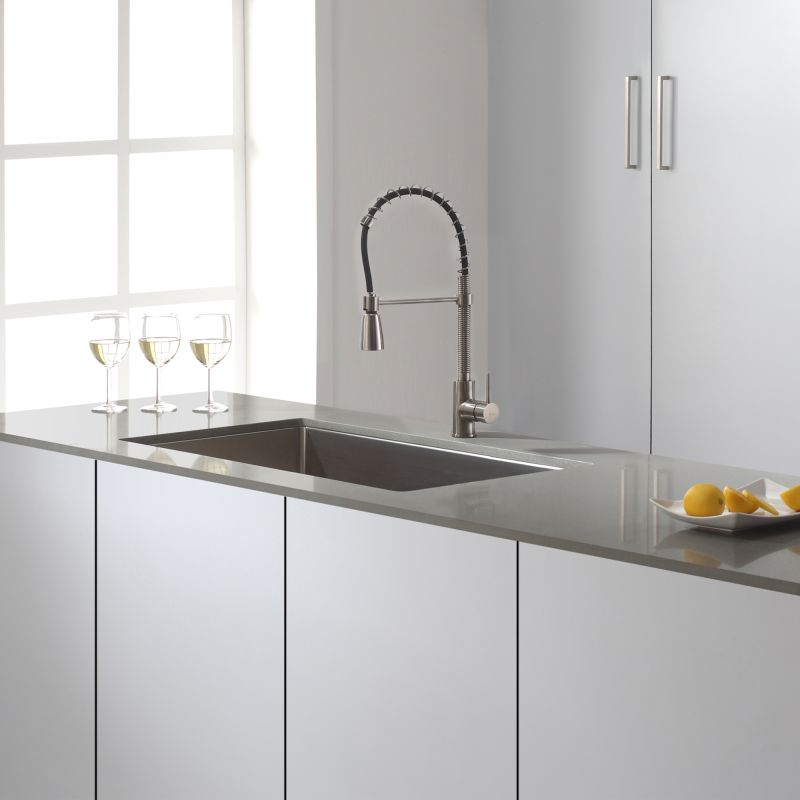 Kraus KPF-1612SS Stainless Steel Commercial Style Pre-Rinse Kitchen ...