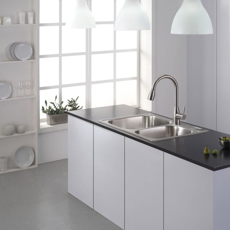 Kraus ktm32 stainless steel 33 18 drop in 6040 double bowl 18 kraus ktm32 stainless steel 33 18 drop in 6040 double bowl 18 gauge stainless steel kitchen sink faucet workwithnaturefo