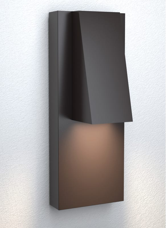 Lbl lighting od1014grpledwdw graphite peak 13 tall integrated led outdoor wall sconce lightingshowplace com