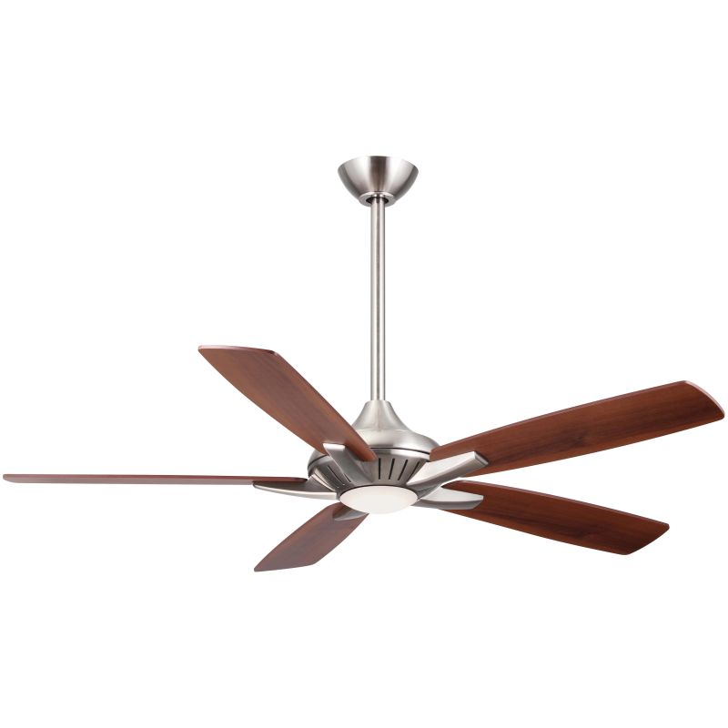 Minkaaire f1000 bn brushed nickel 52 5 blade indoor ceiling fan minkaaire f1000 bn brushed nickel 52 5 blade indoor ceiling fan with integrated led light and remote lightingdirect aloadofball Choice Image