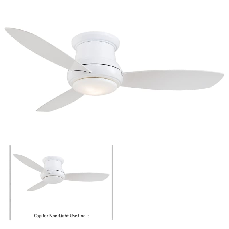 Minkaaire f519 sb satin brass 3 blade 52 concept ii flushmount minkaaire f519 sb satin brass 3 blade 52 concept ii flushmount ceiling fan integrated light handheld remote control and blades included aloadofball Choice Image