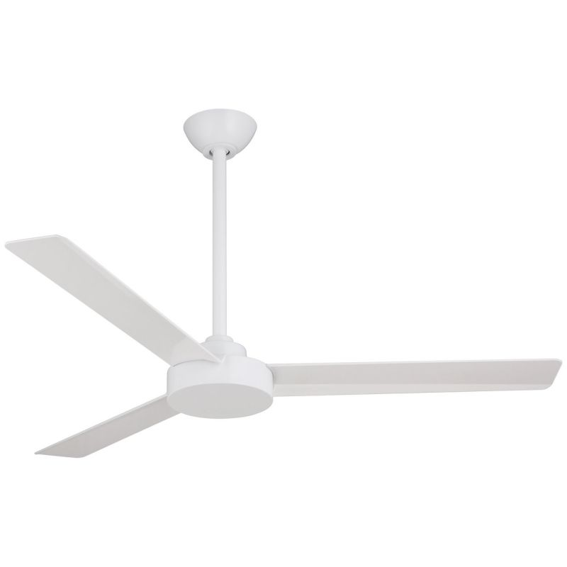 Minkaaire F524 Whf Flat White Roto 52 3 Blade Energy Star Indoor Ceiling Fan With Wall Control System Lightingshowplace