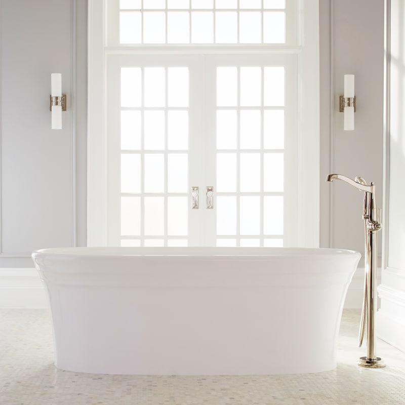 plastic with tub soaker bathroom victorian lever whirlpool white wainscoting traditional bathtubs powder mirabelle baseboard handles slate room acrylic transitional floor