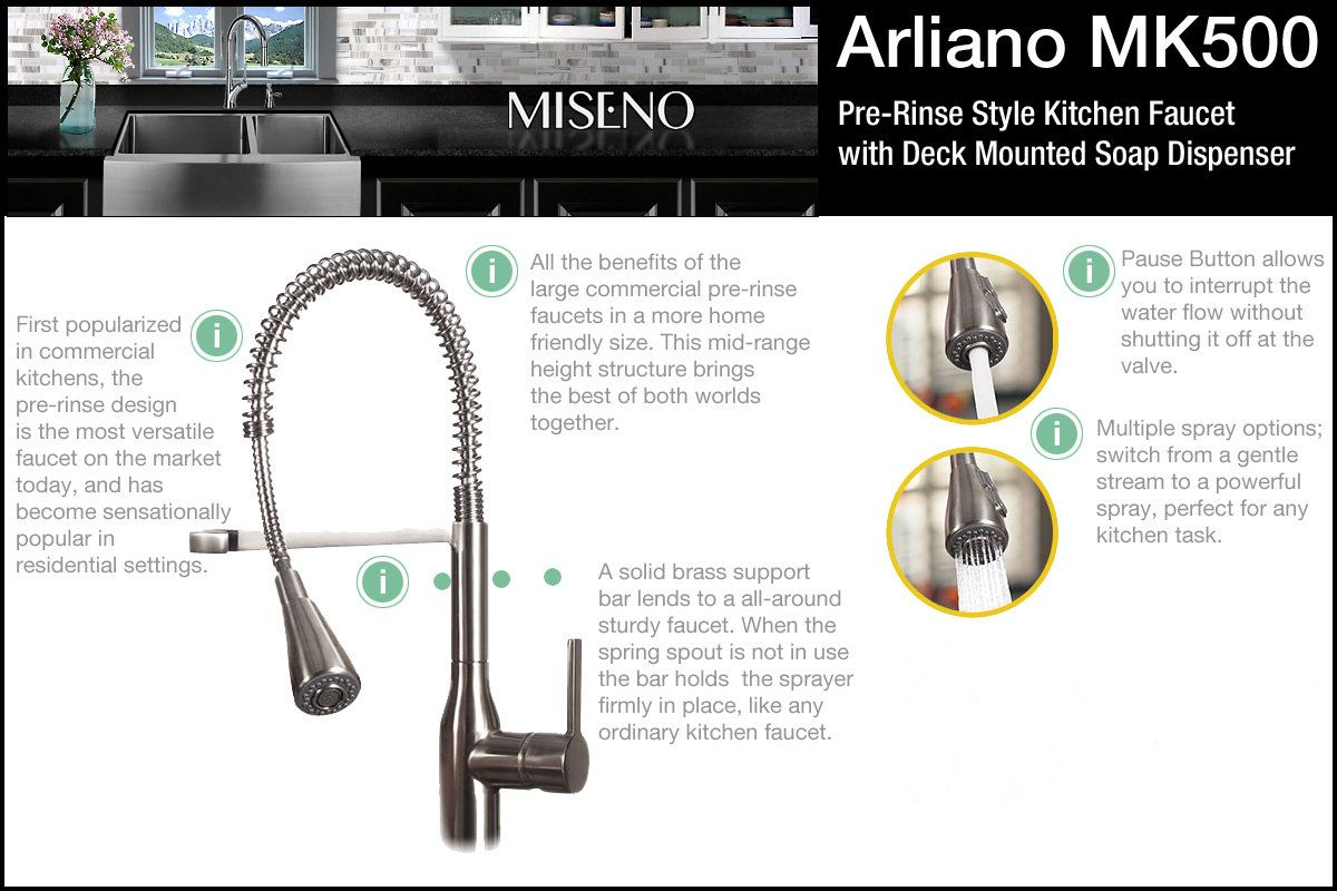 Miseno MCI54-0UM-20 / MNO500ASS White / Stainless Steel Kitchen ...